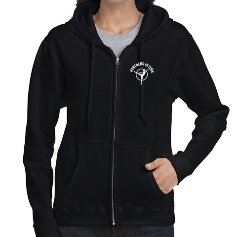 PTDC - HOODIE - Gildan FULL ZIP - Various Colours - LADIES