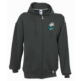 DM - HOODIE Russell Full Zip - Black or Grey - ADULT