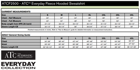 TEM - HOODIE - ATC Everyday Fleece Pullover - ADULT ATCF2500