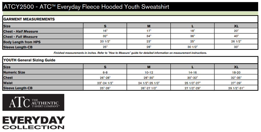 TEM - HOODIE - ATC Everyday Fleece Pullover - YOUTH ATCY2500