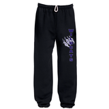 LEAF - PANTS - Gildan Fleece - Open & Closed Bottom - Black or Grey - ADULT