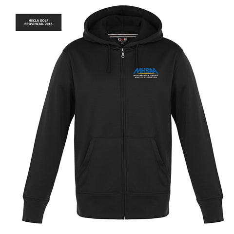 MHSAA - HOODIE - CSW Full Zip Performance Hoodie - Black & Grey - MEN'S & LADIES