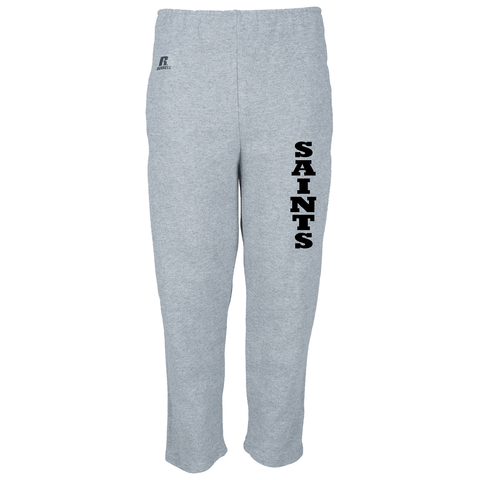 JH - Russell Fleece Pants (Open Bottom) - Black or Grey - YOUTH