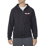 JH - Hoodie (Full Zip) - Black or Grey - ADULT
