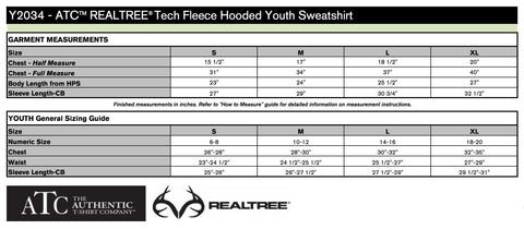 Youth - Sizing Chart
