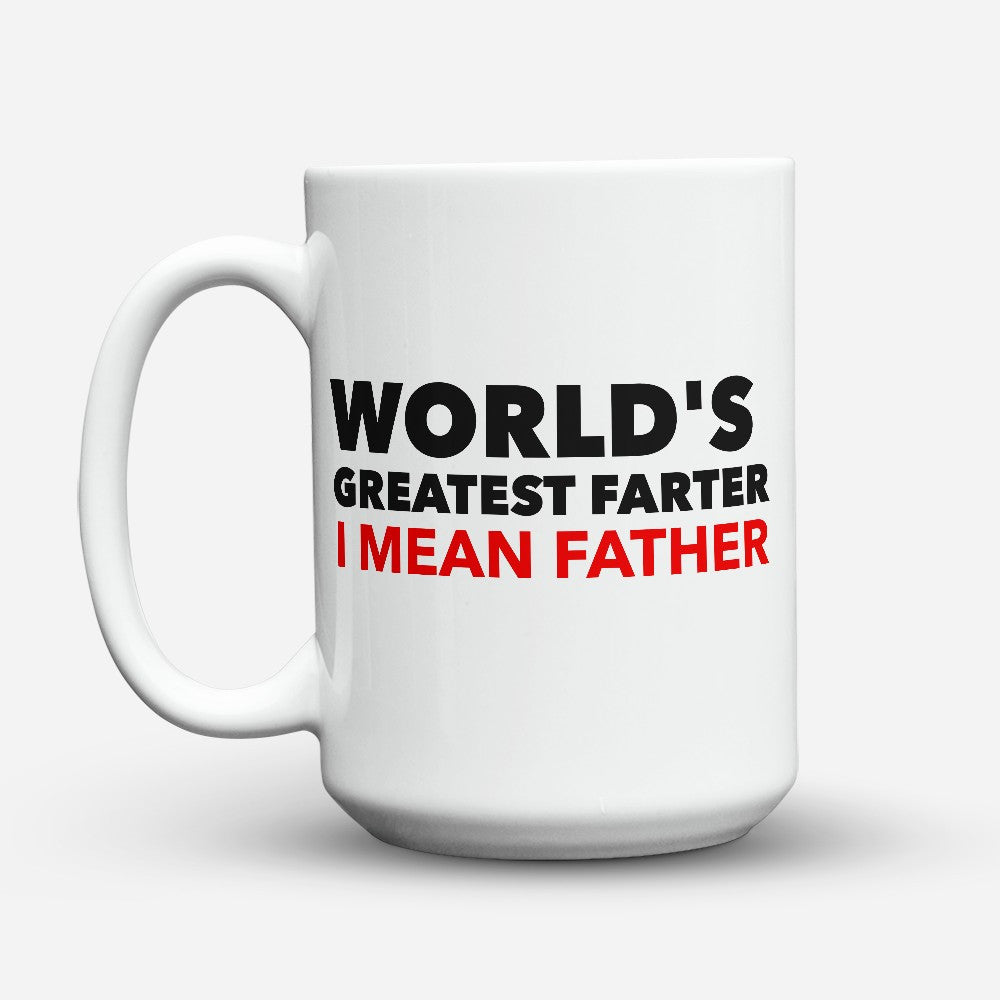"Limited Edition - ""Greatest Father"" 15oz Mug - Father mugs - Mugdom Coffee Mugs"
