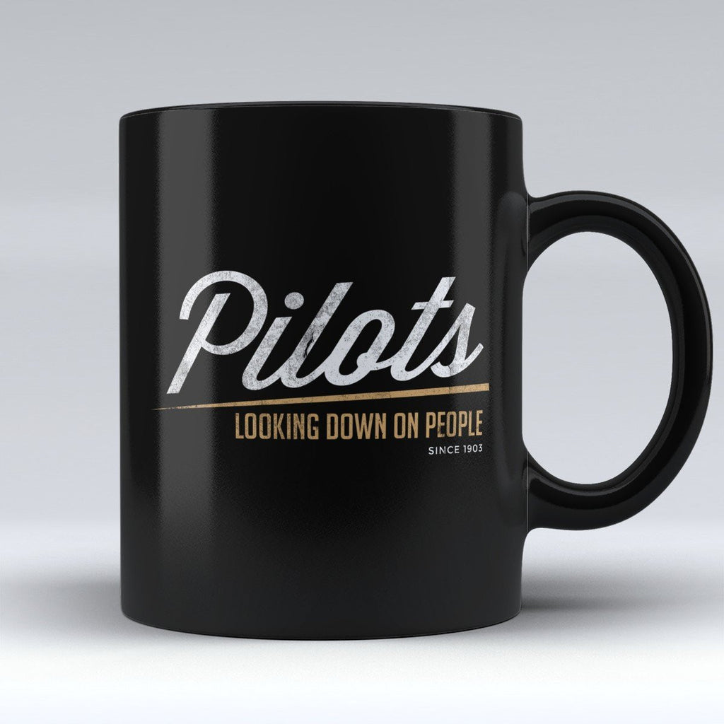 "Limited Edition - ""Pilots Looking Down on People (style04)"" 11oz Mug - Pilot Mugs - Mugdom Coffee Mugs"