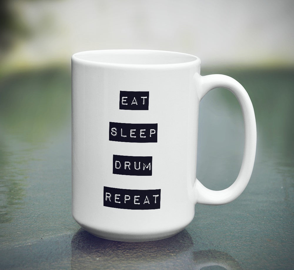 "Limited Edition - ""Repeat"" 15oz Mug - Music Mugs - Mugdom Coffee Mugs"