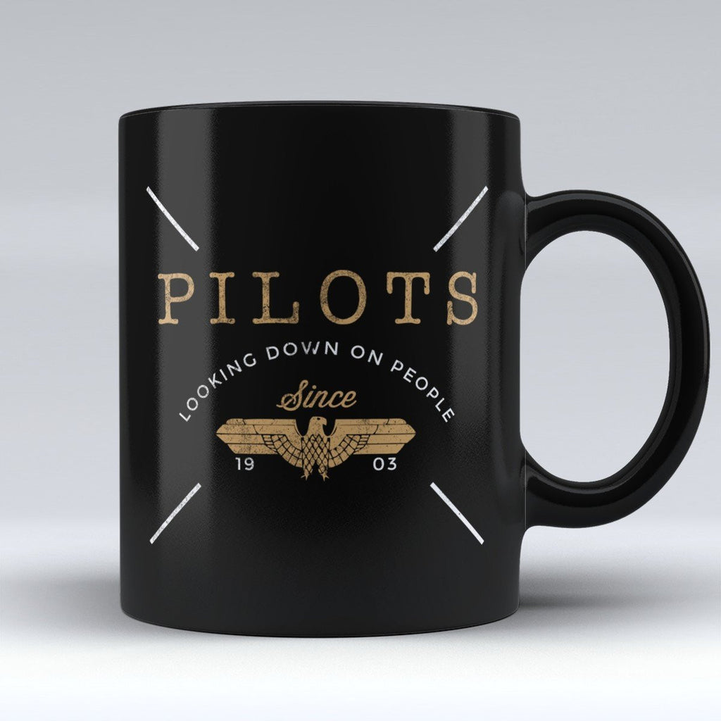 "Limited Edition - ""Pilots Looking Down on People"" 11oz Mug - Pilot Mugs - Mugdom Coffee Mugs"