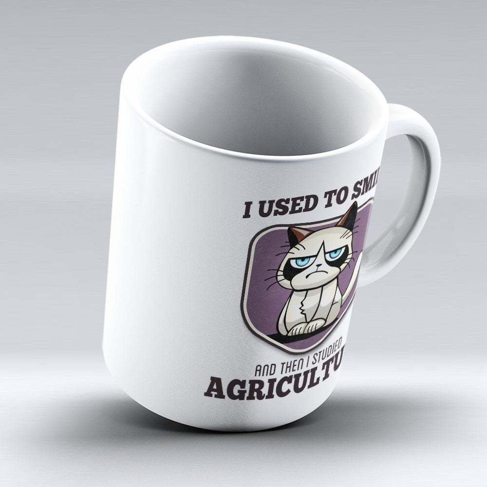 "Limited Edition - ""I Used to Smile - Agriculture"" 11oz Mug - Farmer Mugs - Mugdom Coffee Mugs"