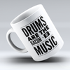 "Limited Edition - ""Bacon Of Music"" 11oz Mug - Drummer Mugs - Mugdom Coffee Mugs"