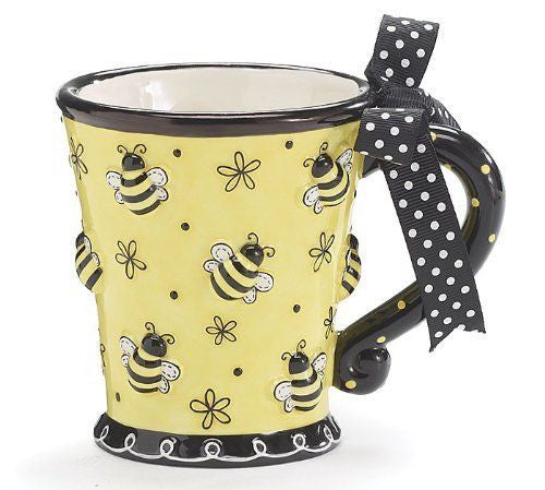 "Limited Edition - ""Bee"" 10oz Mug - Animal Mugs - Mugdom Coffee Mugs"