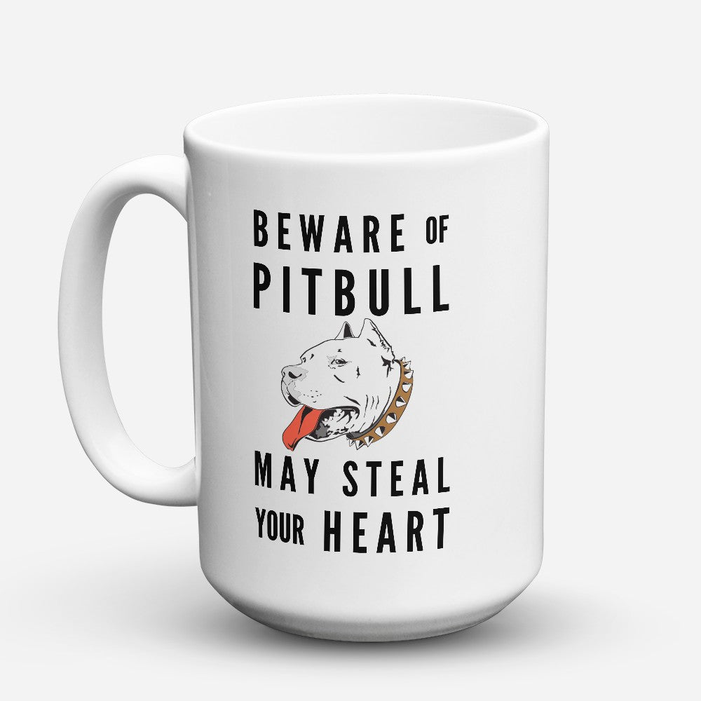 "Limited Edition - ""Beware Of Pitbull 1"" 15oz Mug"
