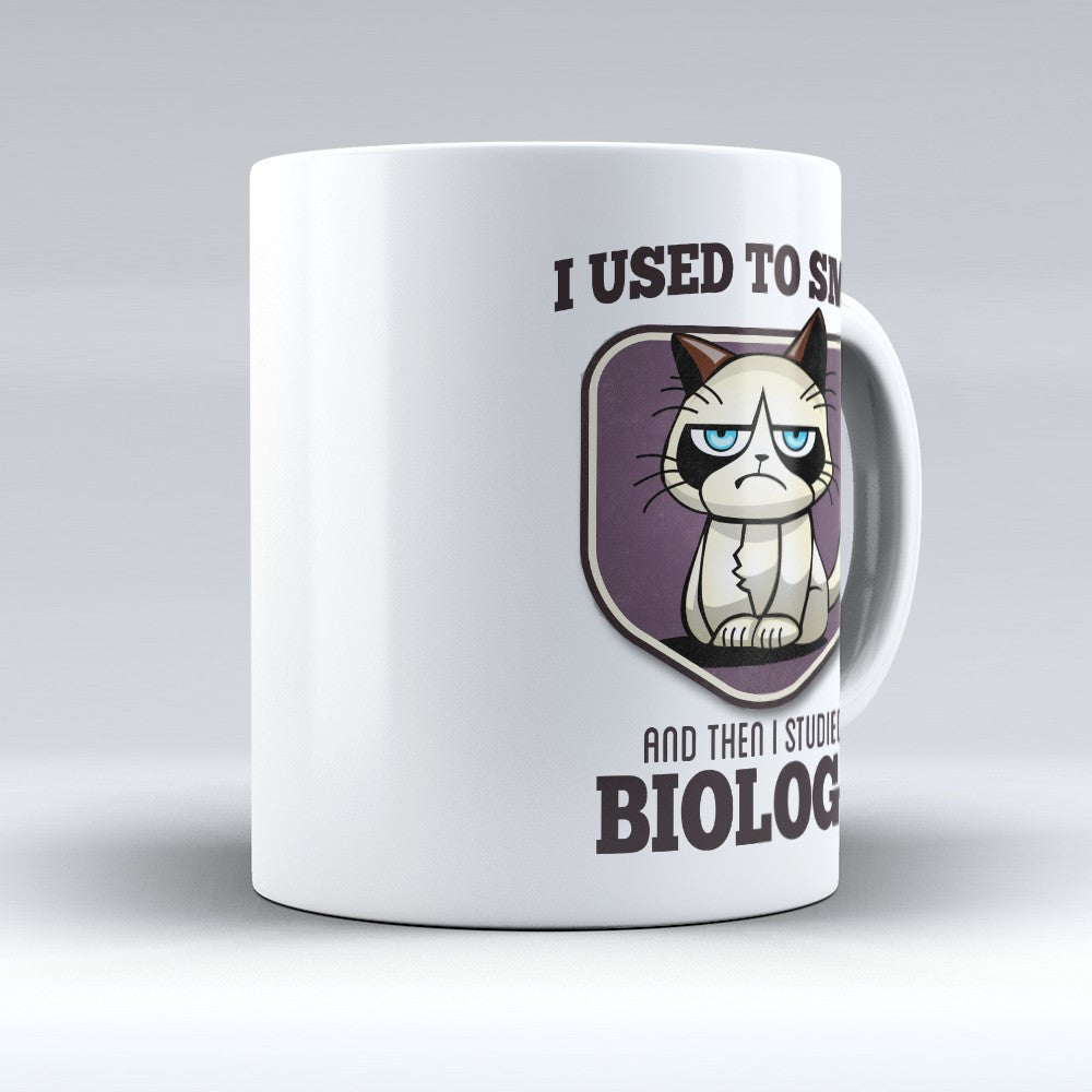 "Limited Edition - ""I Used to Smile - Biology"" 11oz Mug - Biologist Mugs - Mugdom Coffee Mugs"
