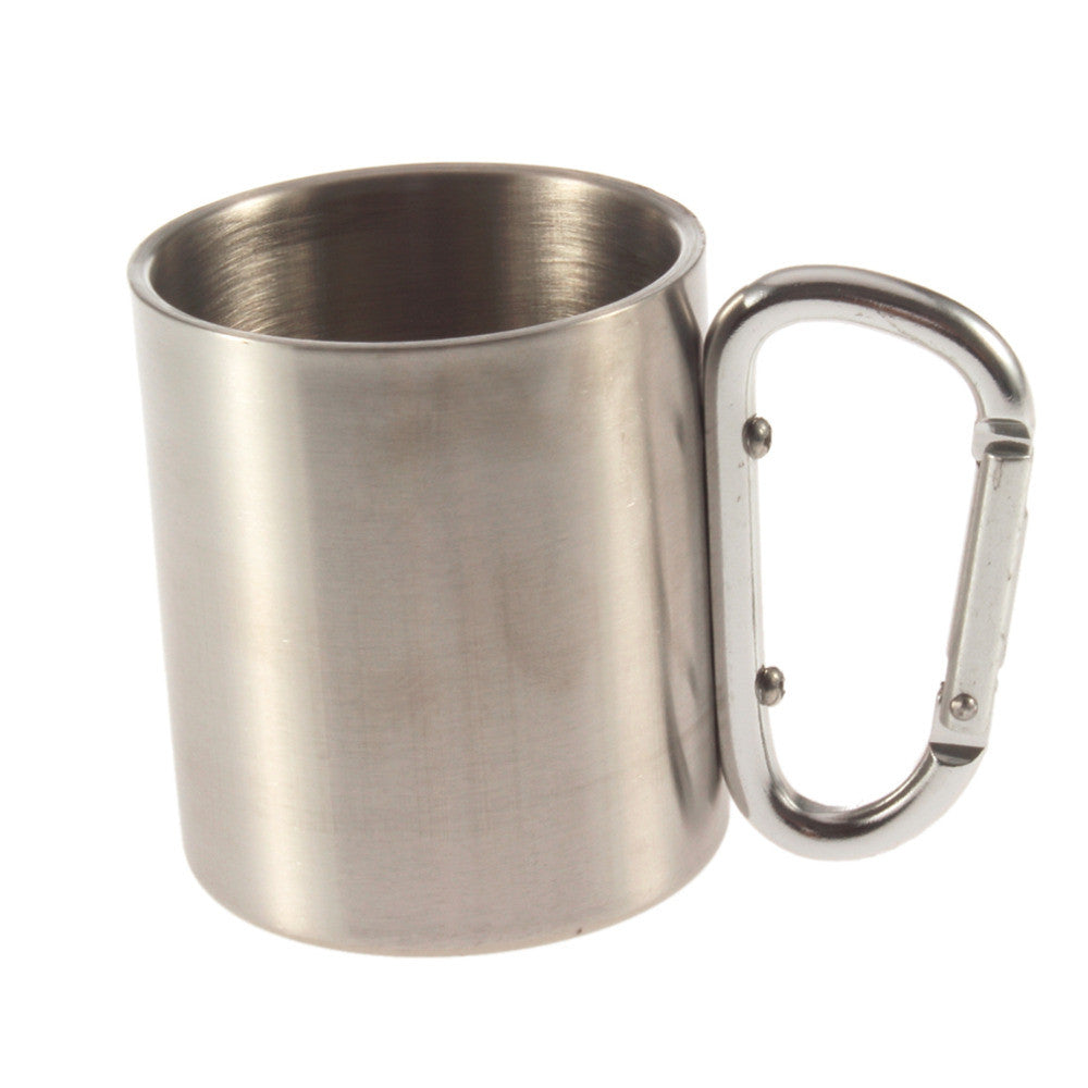 Stainless Steel Carabiner Travel Mug