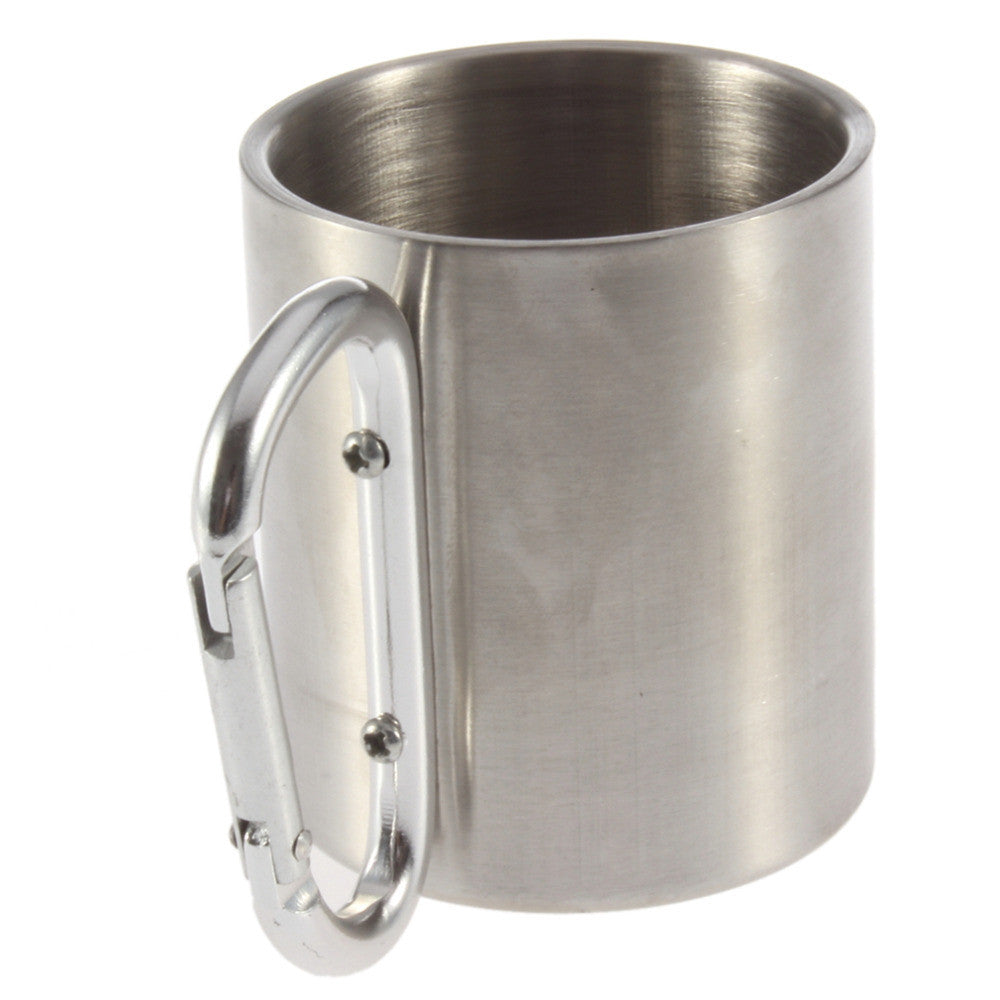 Stainless Steel Carabiner Travel Mug - Thermos & Travel Mugs - Mugdom Coffee Mugs