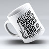 "Limited Edition - ""Care"" 11oz Mug - Music Mugs - Mugdom Coffee Mugs"