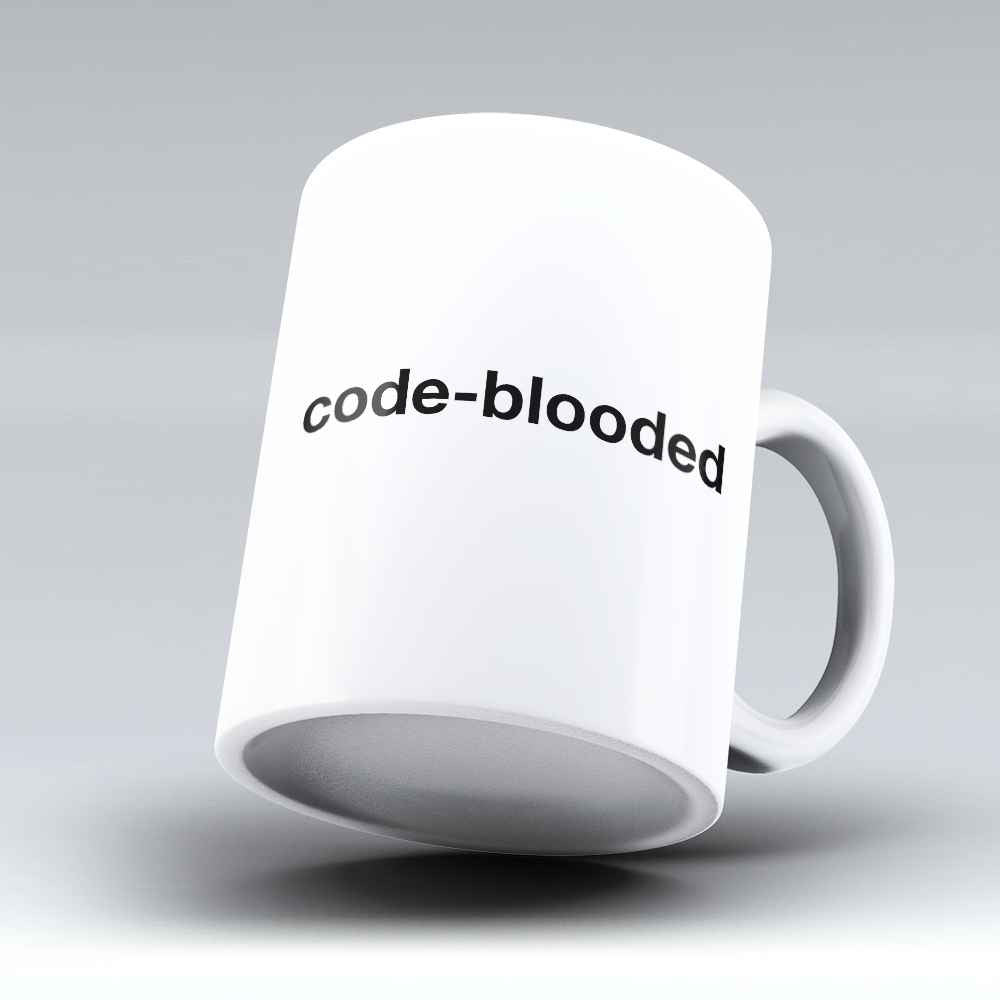 "Limited Edition - ""Code-blooded"" 11oz Mug - Developer & Programmer Mugs - Mugdom Coffee Mugs"