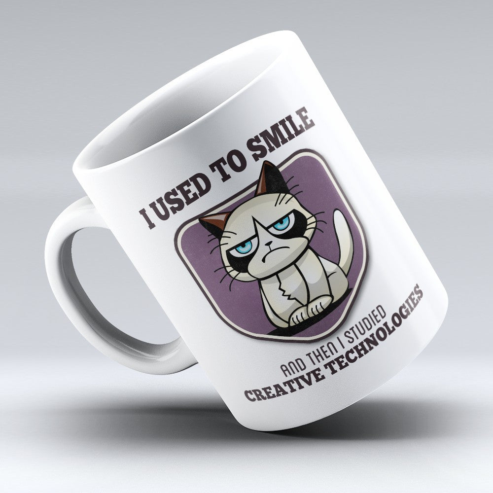 "Limited Edition - ""I Used to Smile - Creative Technologies"" 11oz Mug - Designer Mugs - Mugdom Coffee Mugs"