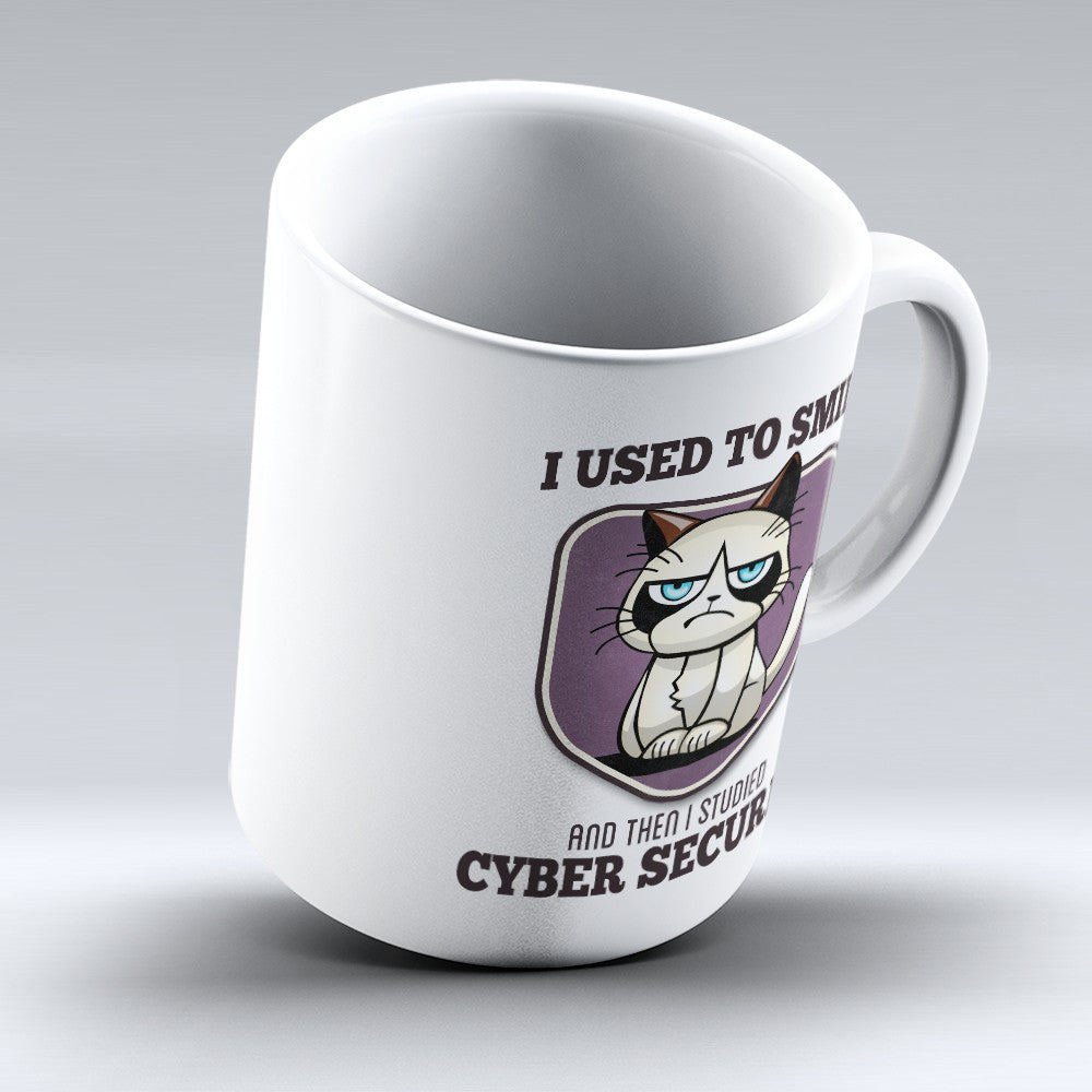 "Limited Edition - ""I Used to Smile - Cyber Security"" 11oz Mug - Cyber Security Analyst Mugs - Mugdom Coffee Mugs"