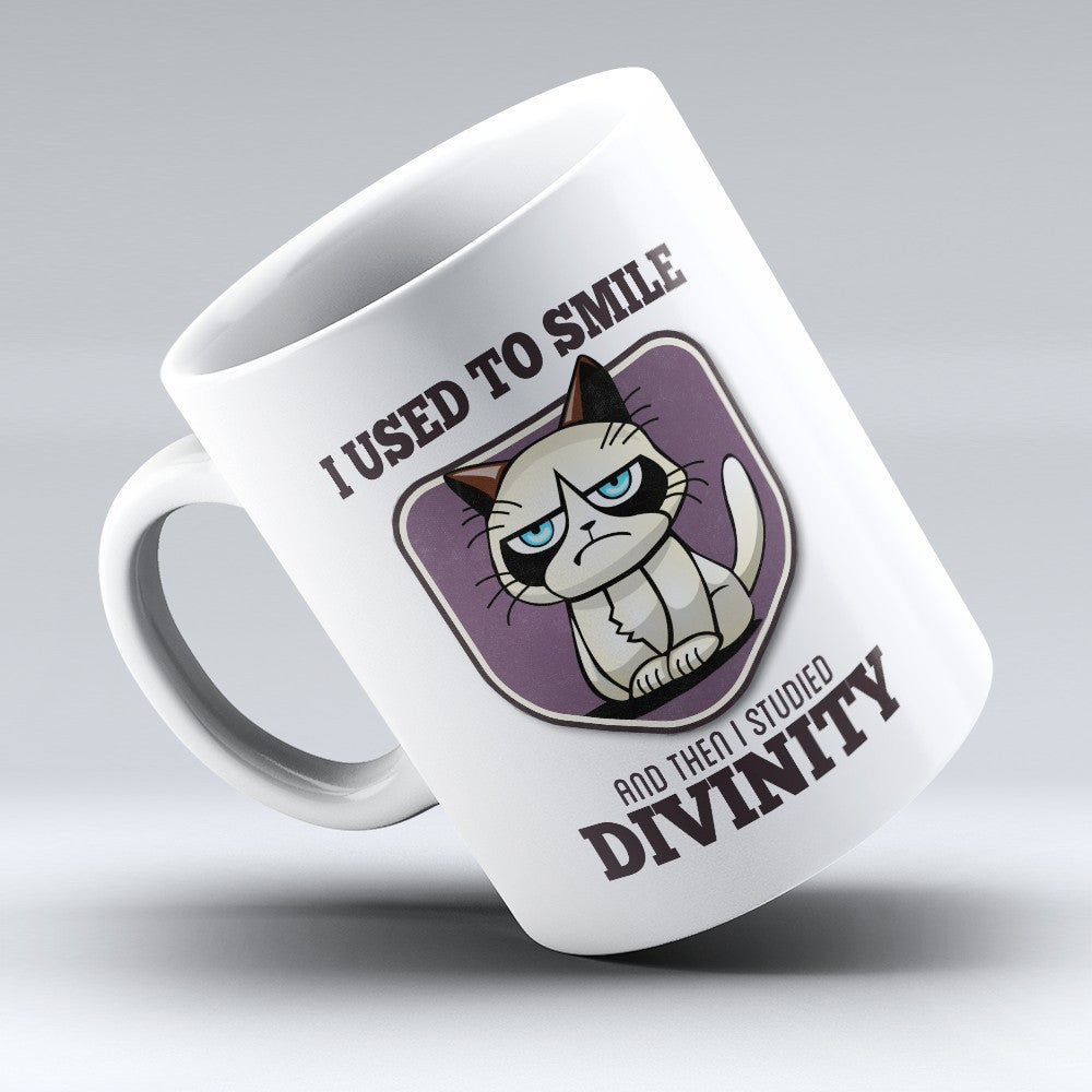 "Limited Edition - ""I Used to Smile - Divinity"" 11oz Mug - Pastor Mugs - Mugdom Coffee Mugs"