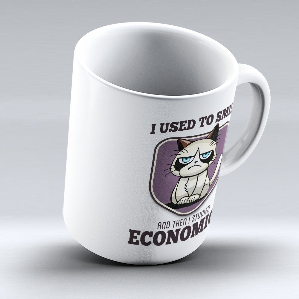 "Limited Edition - ""I Used to Smile - Economics"" 11oz Mug - Economist Mugs - Mugdom Coffee Mugs"