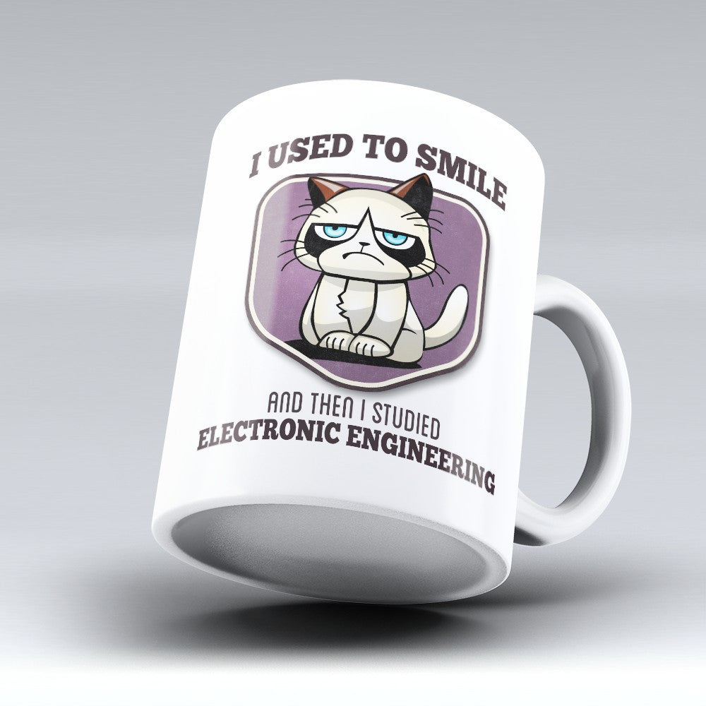 "Limited Edition - ""I Used to Smile - Electronic Engineering"" 11oz Mug - Electronic Engineer Mugs - Mugdom Coffee Mugs"