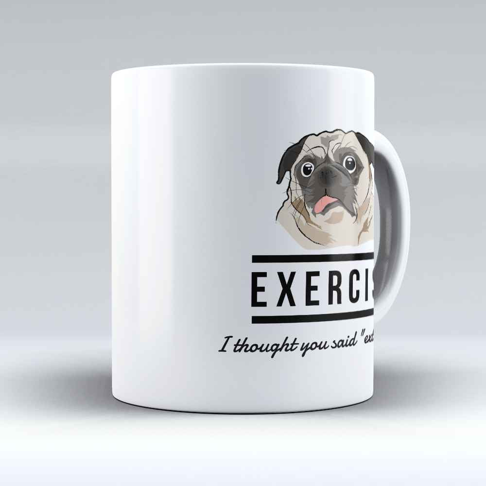 "Limited Edition - ""Extra fries"" 11oz Mug - Pug Mugs - Mugdom Coffee Mugs"