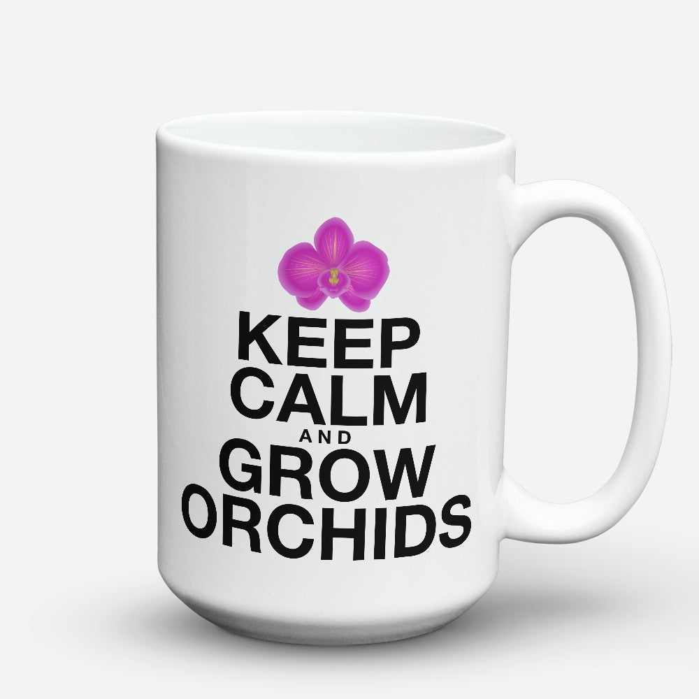 "Limited Edition - ""Grow Orchids"" 15oz Mug"