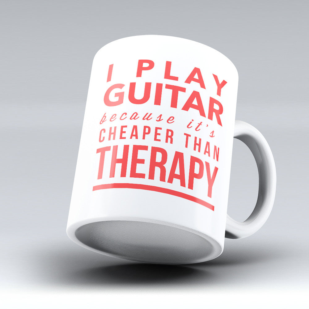 "Limited Edition - ""Therapy"" 11oz Mug - Guitar Mugs - Mugdom Coffee Mugs"