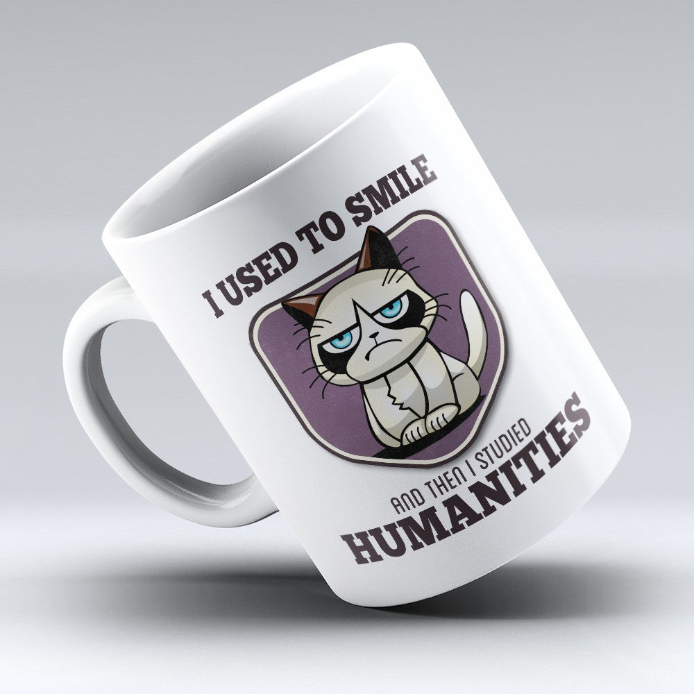 "Limited Edition - ""I Used to Smile - Humanities"" 11oz Mug - Human Resource Mugs - Mugdom Coffee Mugs"