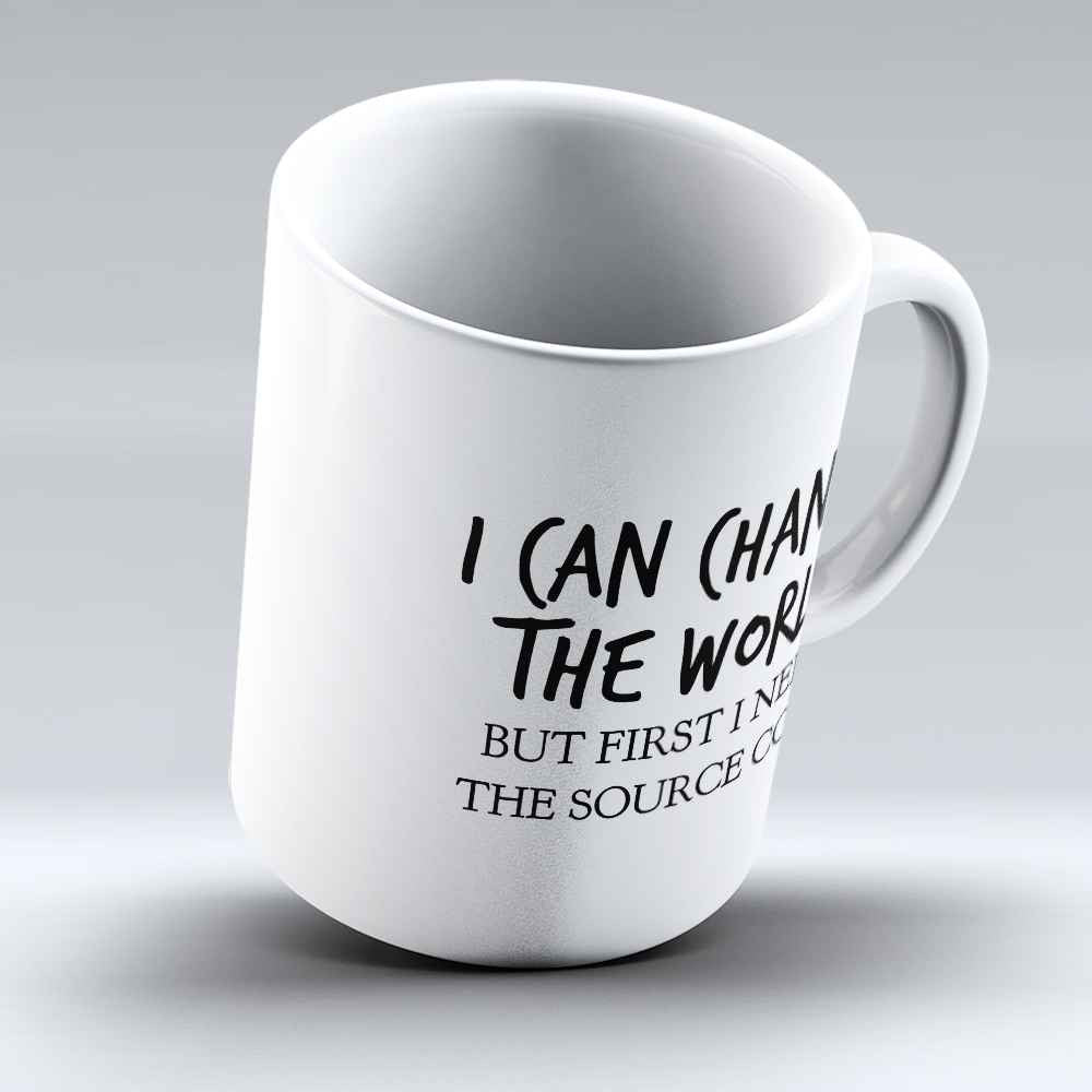 "Limited Edition - ""I Can Change The World"" 11oz Mug - Developer & Programmer Mugs - Mugdom Coffee Mugs"