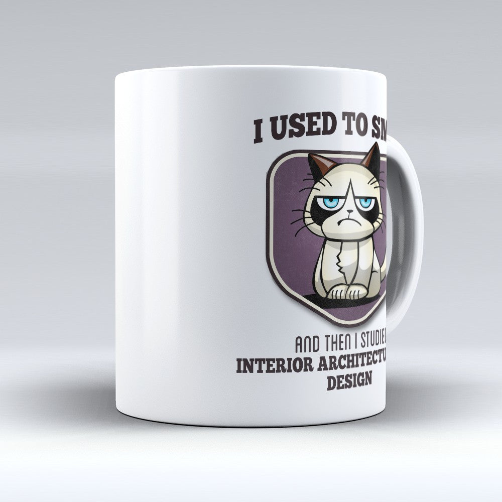 "Limited Edition - ""I Used to Smile - Interior Architecture and Design"" 11oz Mug - Interior Design Mugs - Mugdom Coffee Mugs"