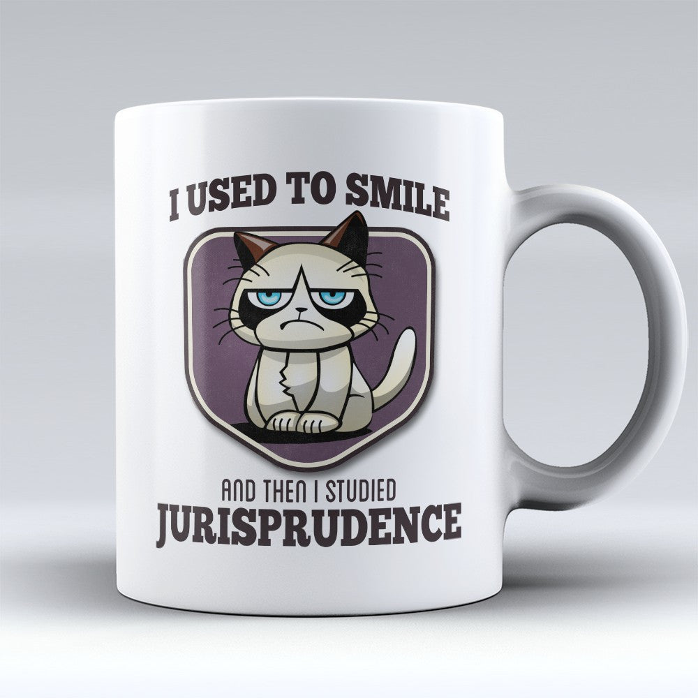 "Limited Edition - ""I Used to Smile - Jurisprudence"" 11oz Mug - Lawyer Mugs - Mugdom Coffee Mugs"