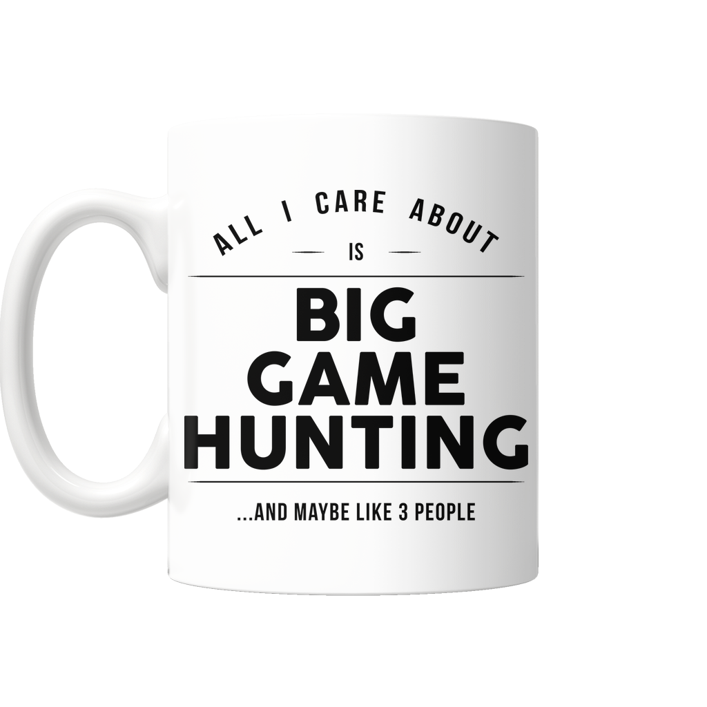 "Limited Edition - ""Big Game Hunting"" 11 oz Mug - Sport Mugs - Mugdom Coffee Mugs"