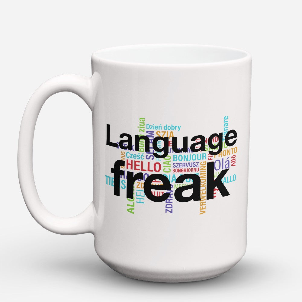 "Limited Edition - ""Language Freak"" 15oz Mug"