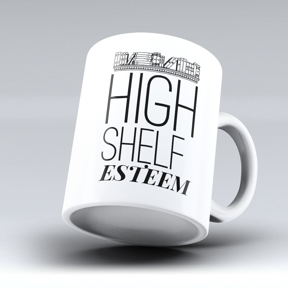 "Limited Edition - ""Shelf Esteem"" 11oz Mug - Librarian Mugs - Mugdom Coffee Mugs"
