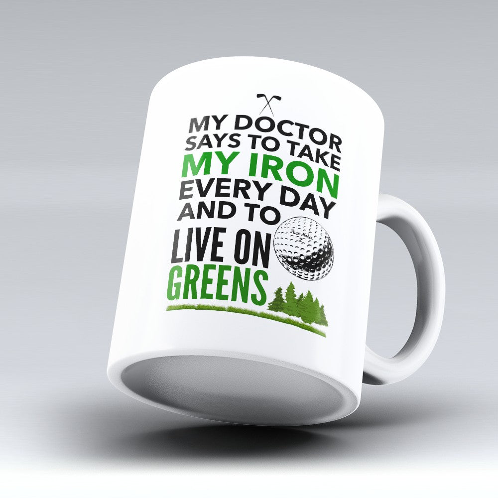"Limited Edition - ""Live On Greens"" 11oz Mug"