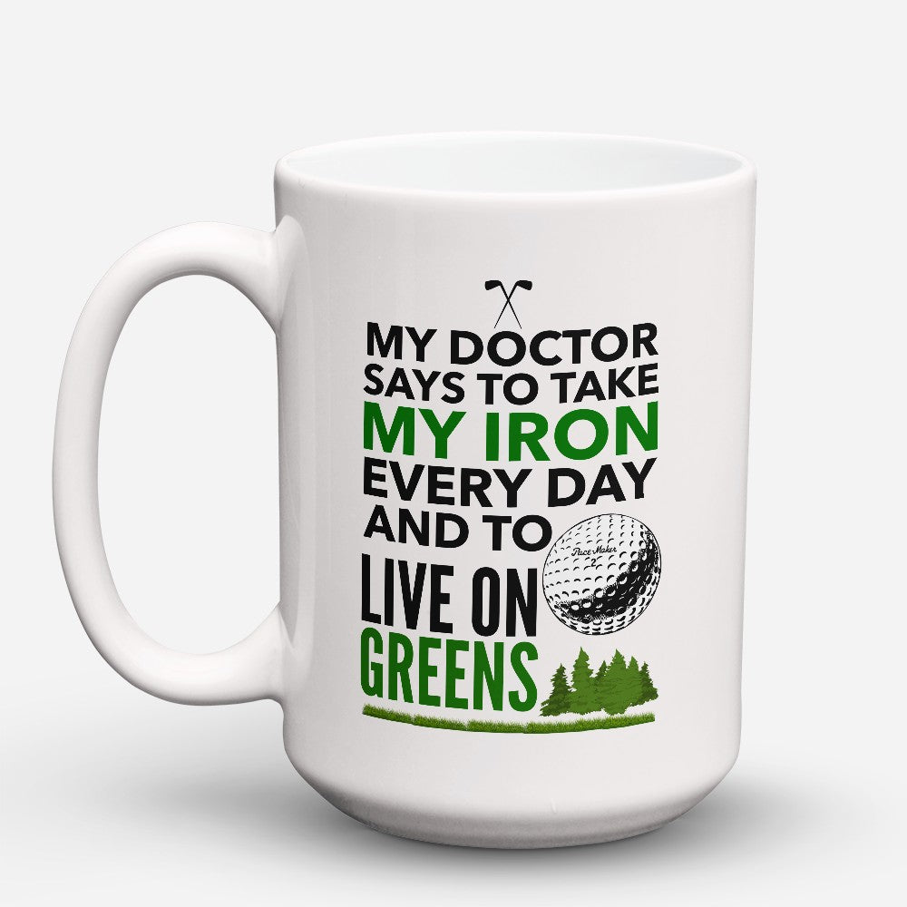 "Limited Edition - ""Live On Greens"" 15oz Mug"