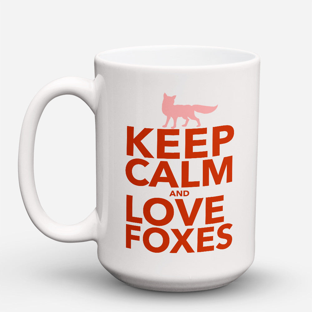 "Limited Edition - ""Fox Love"" 15oz Mug - Fox Mugs - Mugdom Coffee Mugs"