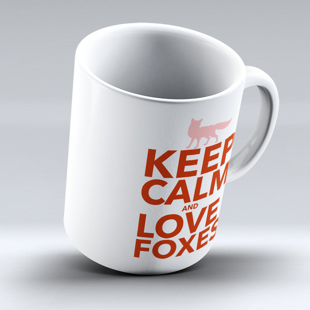 "Limited Edition - ""Fox Love"" 11oz Mug - Fox Mugs - Mugdom Coffee Mugs"