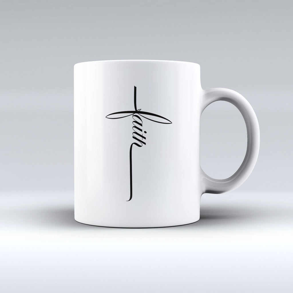 "Limited Edition ""Faith"" 11 oz Mug - Religious Mugs - Mugdom Coffee Mugs"