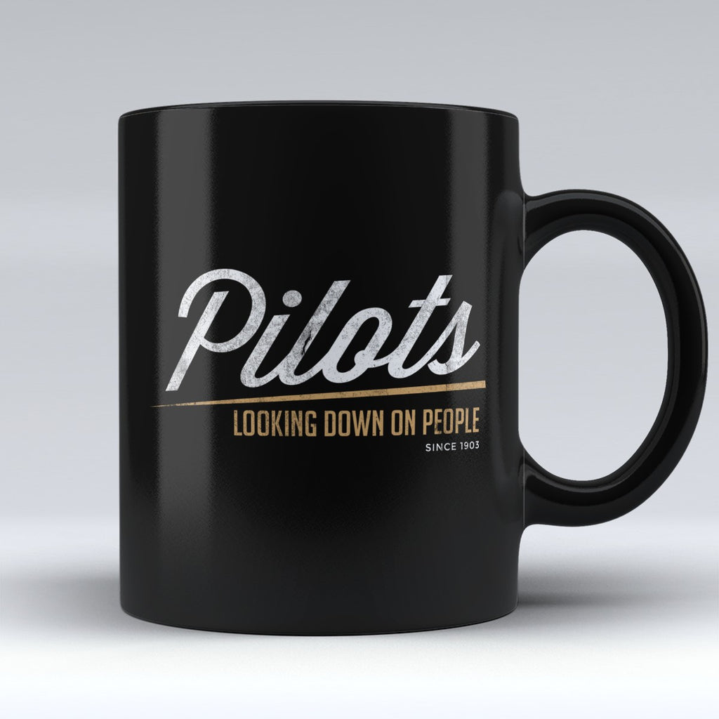 "Limited Edition - "" Pilots Looking Down 4"" 11oz Mug - Pilot Mugs - Mugdom Coffee Mugs"