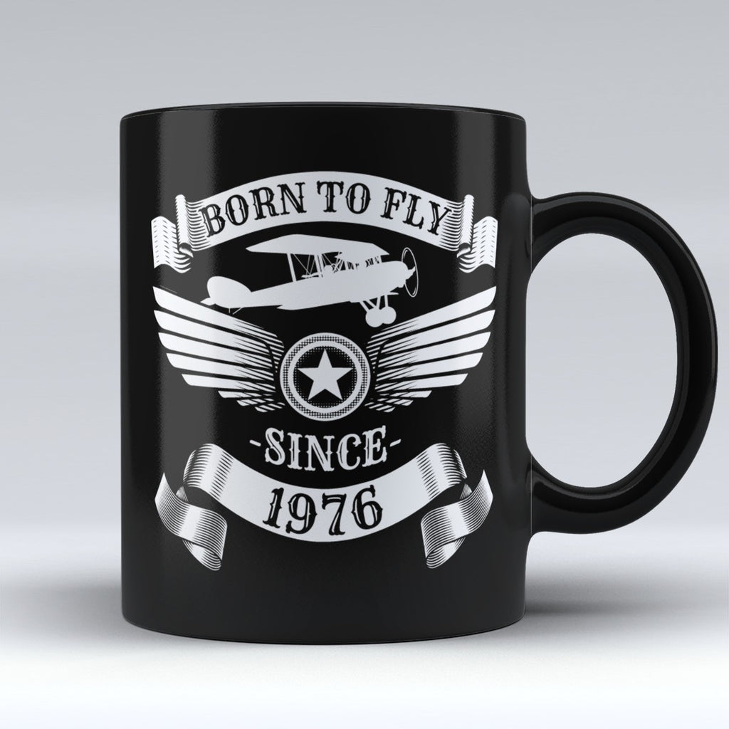 Limited Edition - Born to Fly Since 1976 - 11oz mug - Pilot Mugs - Mugdom Coffee Mugs