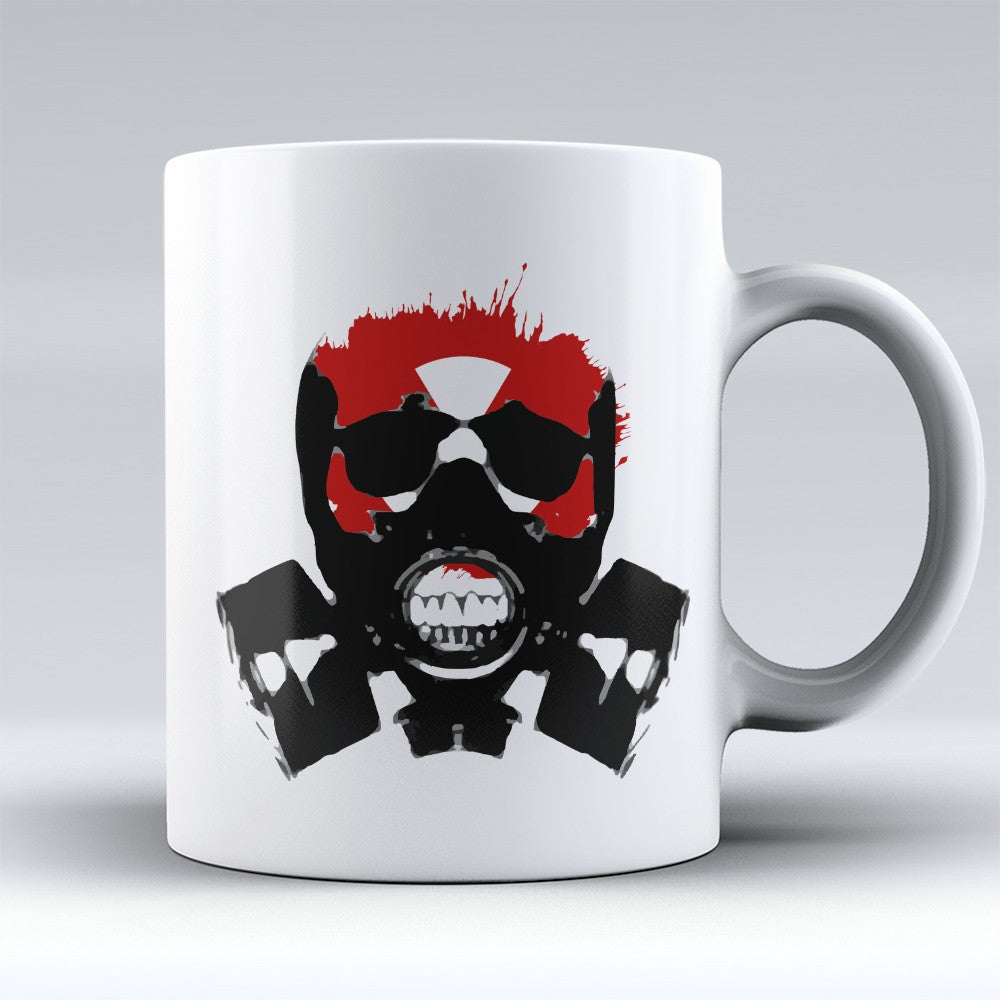 Limited Edition Halloween Mug - Gas Mask - 11oz - Mugdom Coffee Mugs