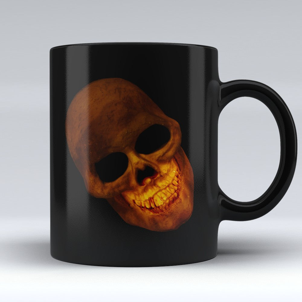 Limited Edition Halloween Mug - Smiling Skull - 11oz