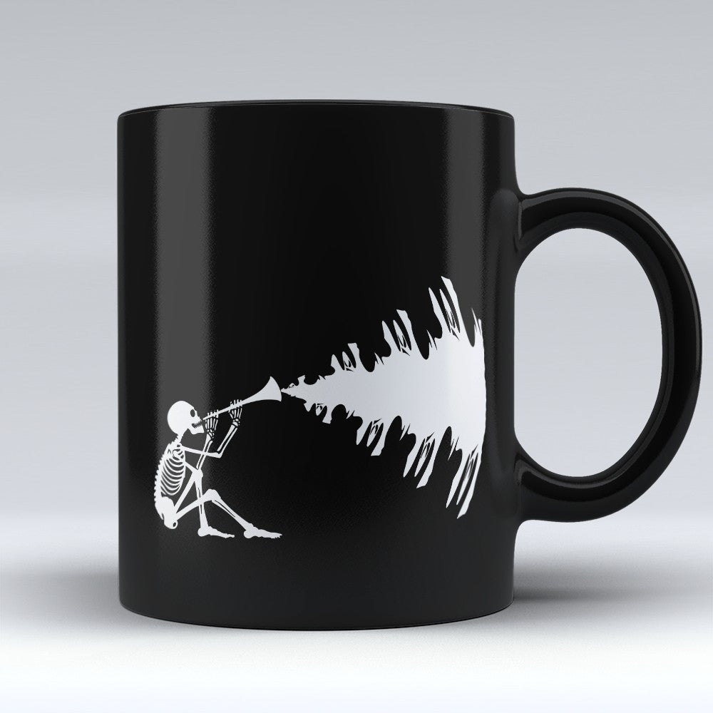 Limited Edition Halloween Mug - Skeleton Music - 11oz - Mugdom Coffee Mugs