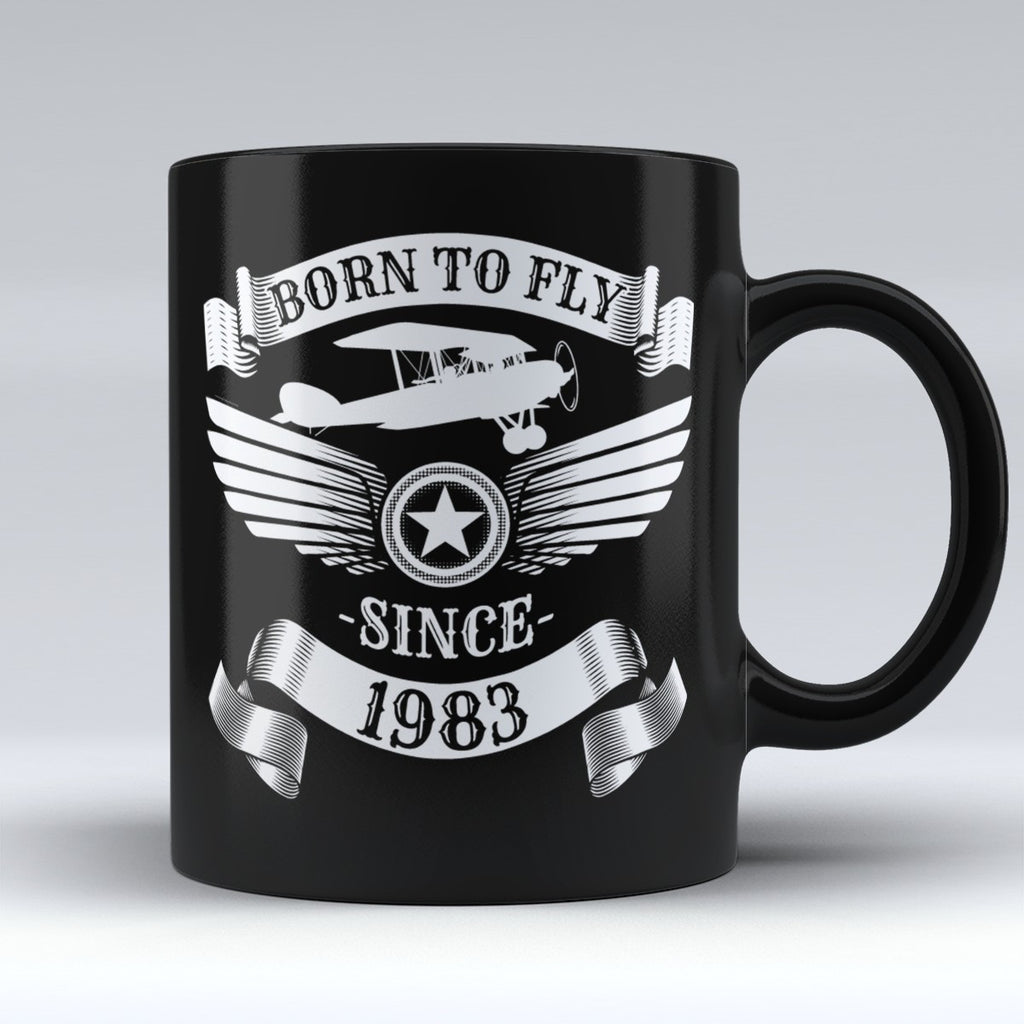 Limited Edition - Born to Fly Since 1983 - 11oz mug - Pilot Mugs - Mugdom Coffee Mugs