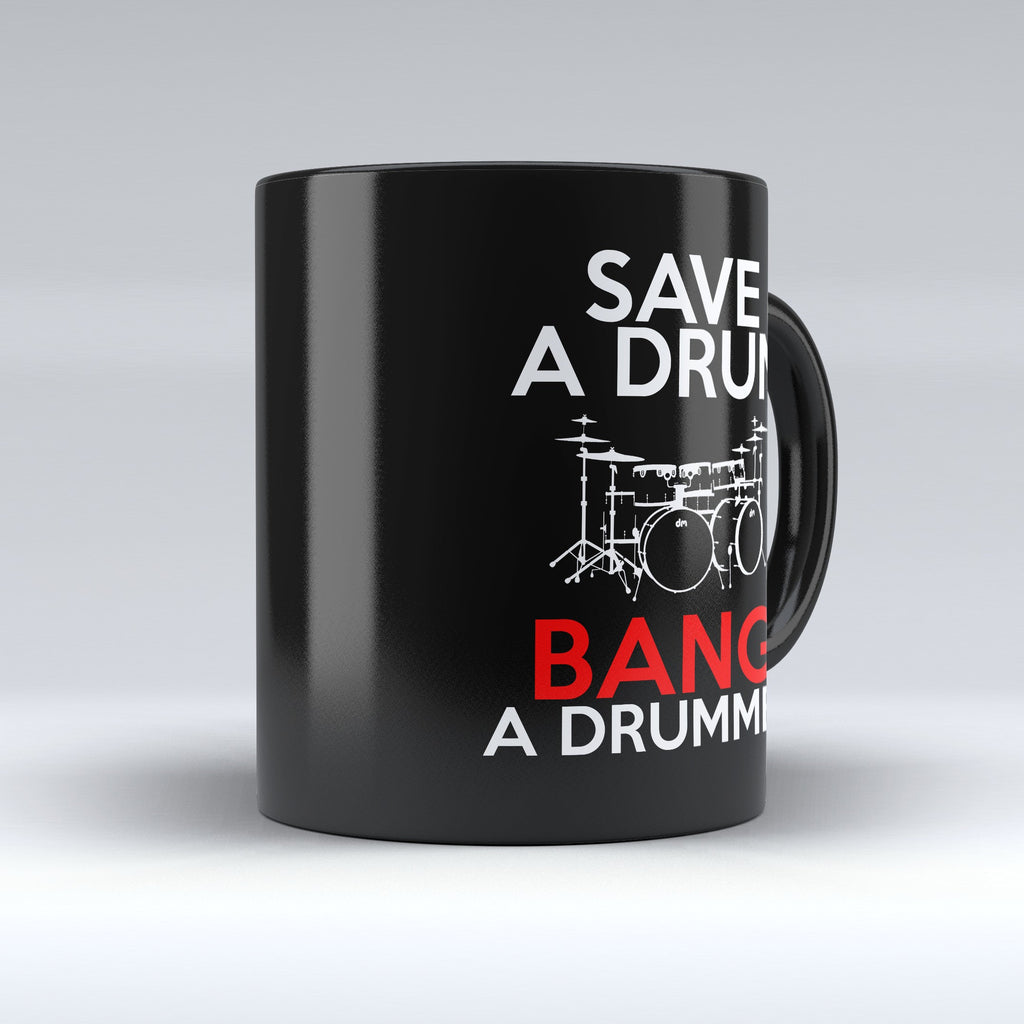 "Limited Edition - ""Save a Drum"" 11 oz Mug - Music Mugs - Mugdom Coffee Mugs"