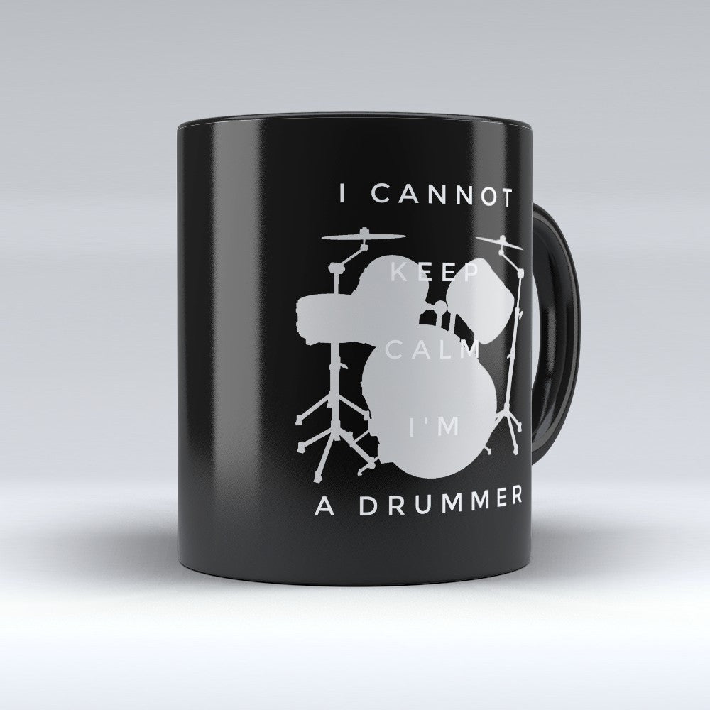 "Limited Edition - ""I'm A Drummer"" 11oz Mug - Music Mugs - Mugdom Coffee Mugs"